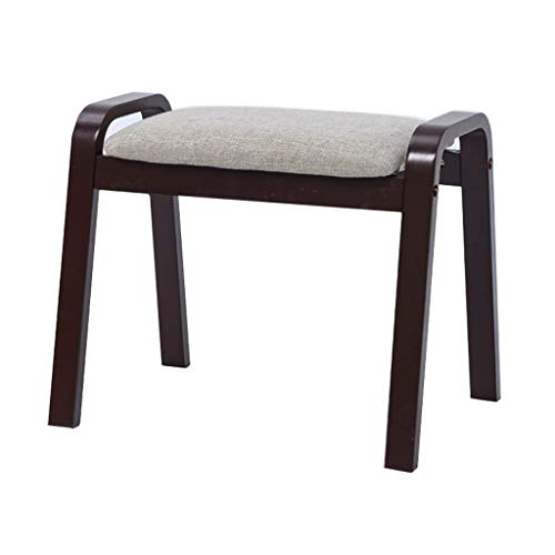 Yxsd Taburete taburete de moda taburete de salón creativo mesa de café taburete taburete de madera maciza taburete cuadrado nogal adulto pequeño banco para sala de estar corredor (tamaño: gris)