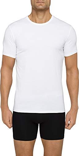 Calvin Klein Men s Cotton Stretch Multipack Crew Neck T-Shirts, White, Large