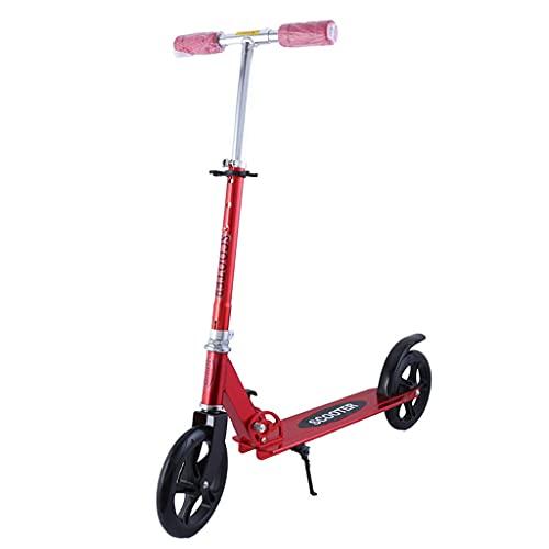 SOPHM5 Patinete Freestyle Adultos Adolescentes patear Scooter con Soporte de asa Ajustable, Scooters de Marco de Acero Plegable, Scooters de equitación Capacidad de Peso 100 kg (Color : C)