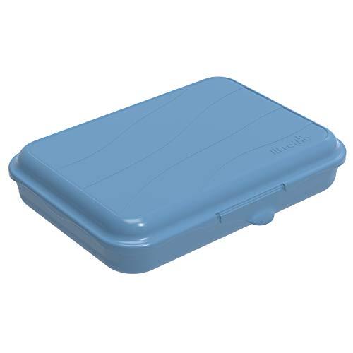 Rotho Fun Vesperdose 0,75l mit Klickverschluss, Kunststoff (PP) BPA-frei, blau, 0,75l (19,5 x 14,5 x 4,0 cm)