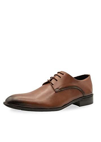 CAPRIUM - Scarpe da uomo Derby Business con lacci, modello Simon No. 1129, Marrone (marrone), 42 EU