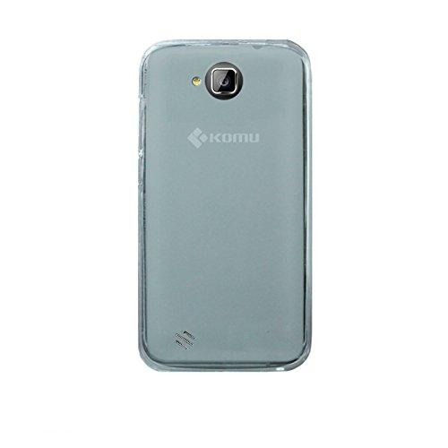 Cover custodia per Smartphone Komu Mini - silicone morbido Bianco ORIGINALE KOMU