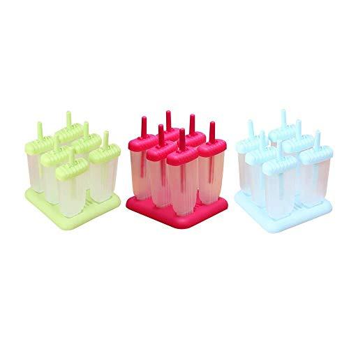 Tll-mm Set di 6 Ghiacciolo Stampo con i bastoni congelato Gelato e caffè riutilizzabili Gelato Stampi Vassoi for Homemade Popsicle (Color : Rosy)
