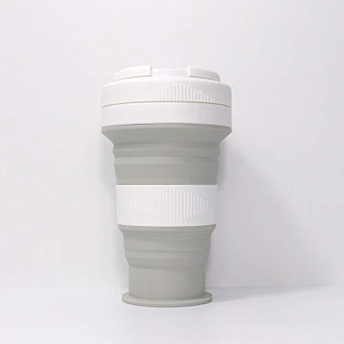 LBHH Taza Café Plegable Taza Colapsable – Taza de Silicona,Taza Portátil Taza Reutilizable,Taza Plegable,a Prueba de Fugas,Libre de BPA Acampar al Aire Libre Senderismo Viaje de Oficina en casa