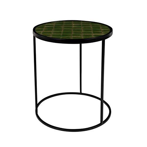 Zuiver tafel, rond, glazen, groen