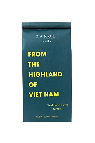 Dakoli Coffee - The Best Vietnamese Coffee From The Highland Of Viet Nam with Traditional Flavor- Ground Coffee 12 Oz (340g)