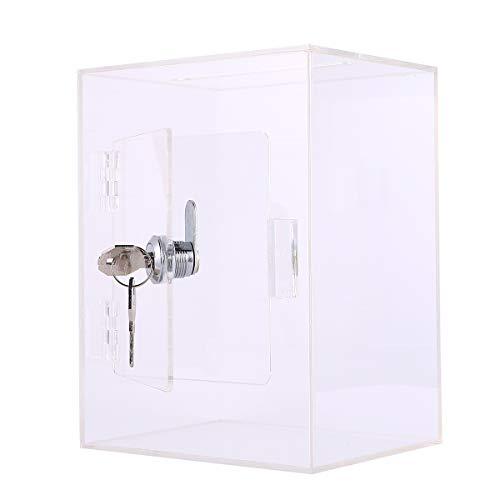 STOBOK Acrylkiste mit Schloss Multifunktionale Fundraising Box Suggestion Box Spendenbox Dropbox für Charity Ballot- Umfrage (transparent) Bürobedarf Bürozubehör Artikel für Office