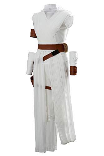 beckyring Cosplay de Pelicula para Mujer Rey Disfraz Traje de Cosplay de Saten Blanco Traje Completo de Carnaval Nnavideno con Cinturon y Bolso,S
