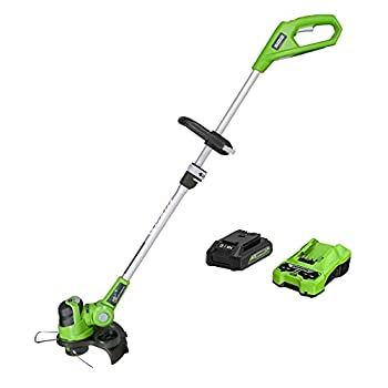 Greenworks 24V 12-Inch String Trimmer / Edger 2Ah Battery and Charger Included 21342