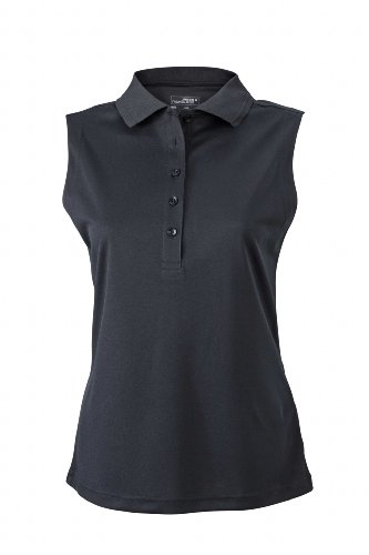 Ladies' Active Polo Sleeveless   black   L im digatex-package