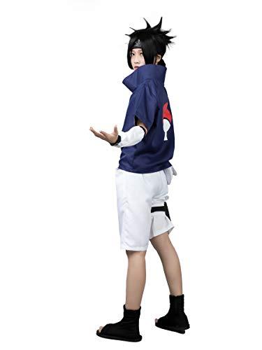 CosFantasy mp002815 Naruto Sasuke Uchiha Cosplay Kostüme 1st ver Outfits - Blau - Small