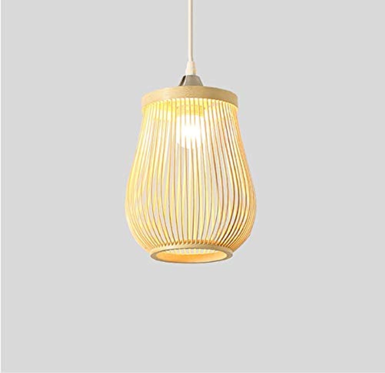 E27 hohle Bambusfederung Droplight Schlafzimmer Wohnzimmer Hotel Cafe Dekoration Deckenbeleuchtung