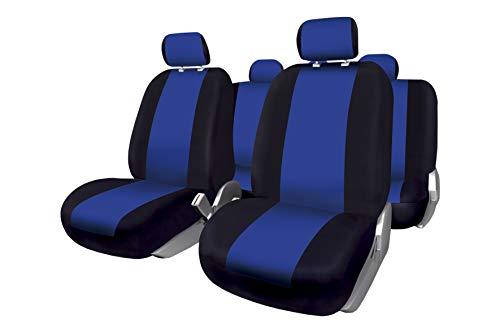 Bccorona FUK10409 Set Completo di Coprisedili per Auto, Modello Sevilla, Nero/Blu, Azul