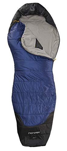 Nordisk - PUK Schlafsack, strapazierfähiges Ripstop-Außengewebe, 2-Wege-Reißverschluss, Curve-Konstruktion/Form, 10 Grad, Grösse XL, Blau