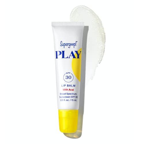 Supergoop! PLAY Lip Balm with Acai, 0.5 fl oz - SPF 30 PA+++ Reef Safe, Broad Spectrum Sunscreen -...