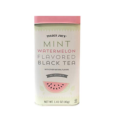 Trader Joe's Mint Watermelon Flavored Black Tea Tin, 20 Sachets