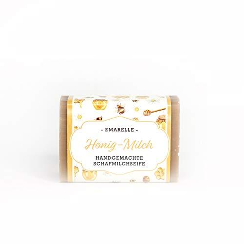 Emarelle Luxus Schafmilchseife Honig-Milch, sanfte Pflege für Gesicht und Körper, 7er Pack (7 x 100 g)