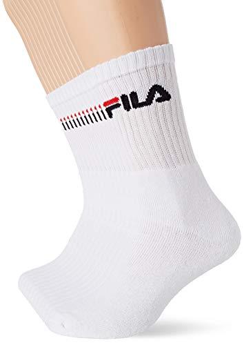 Fila Calcetines de deporte para Hombre, Blanco, 43/46 (pack de 12)