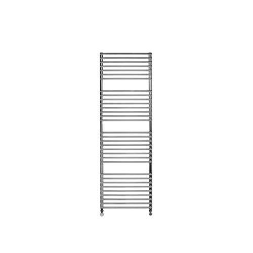 Radiador Toallero de pared, temperatura máxima de 110ºC, serie Frame Plus, acero de carbono con placa en acero inoxidable, 8,1 x 59,2 x 183,2 centímetros (Referencia: 0200960837)