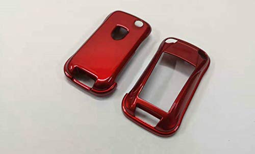GHXSport Gloss Metallic Red Color Flip Key Remote Key Protection Case for Porsche Cayenne Turbo S GTS V6 V8