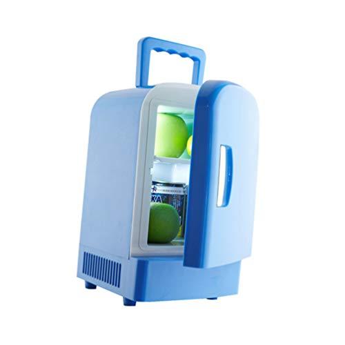 DOITOOL Mini Nevera 4 Refrigerador Termoeléctrico Portátil Calentador de Congelador AC CC para Alimentos para Cuidado de La Piel Medicamentos Coche de Viaje en Casa (Manejar Color