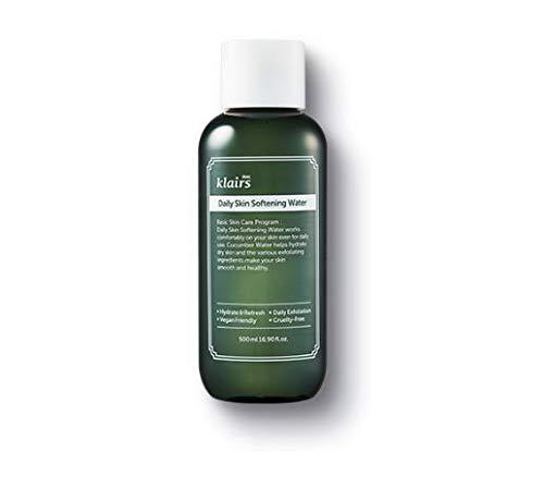 KLAIRS Daily Skin Softening Water , Jumbo 16.90 Fl Oz, Skin Refining Cucumber