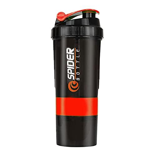 Botella Agua Deporte,Para Cantimploras para Gimnasio, Bicicleta, Colegio, Oficina, Viajes -rojo_650ml