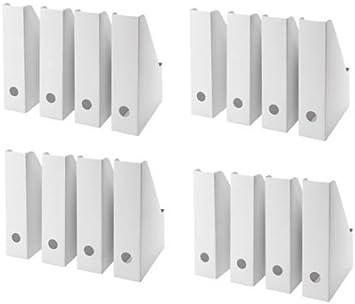 Ikea Blanc Magazine Fluns Fichier Support Livre Papier Document Organisateur De Rangement Organiseur Bureau Par Sortie Lizzy Pack Of 16 Amazon Fr Fournitures De Bureau