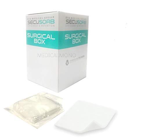 MEDICALMONO Compresse LUXOR NET TNT SECUSORB in Surgical Box - 4 strati - STERILI (10X10 (50 buste da 5 garze) - Tot. 250 pz, 250)