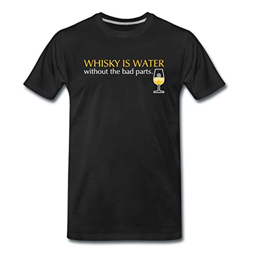 Whisky is Water Without The Bad Parts Männer Premium T-Shirt, 3XL, Schwarz