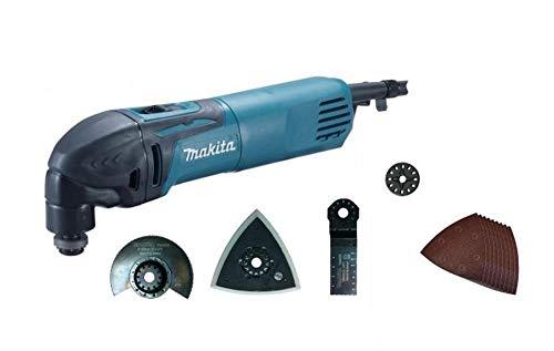Makita TM3000CX6 - Cortador de lijadora multifunción, 320 W, ángulo 3,2 ° + accesorios