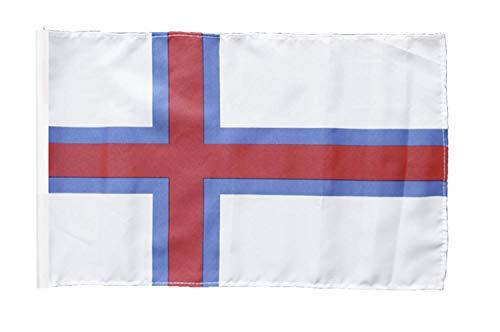 FlagSuperstore© Flagge der Färöer-Inseln, 45,7 x 30,5 cm, Baumhäuser, Wohnwagen, mit Ärmeln, 45 x 30 cm