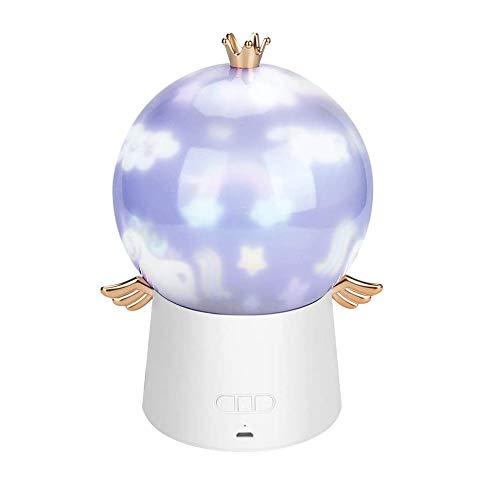 Stern-Nachtlicht-Projektor, USB-Aufladung, LED-Baby-Lichtprojektor mit Musik, 360 Grad drehbar, Projektionslampe mit 6 Filmen für Baby-Kinderzimmer, Kinderzimmer, Geburtstag, Weihnachten Geschenk