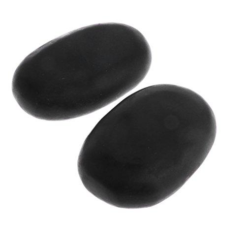 Set di Grandi Pietre Calde di Roccia Termale Basalto Massaggio Lava Pietra Naturale - Nero, 2 pezzi