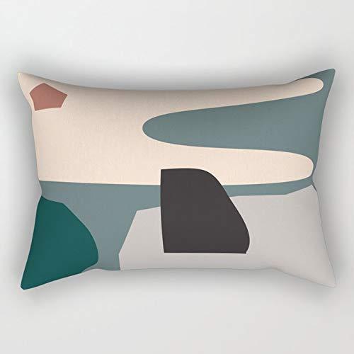 Yuanmeiju Shape Study #21 Rectangular Pillowcase Cushion Cover 20x30 Inch