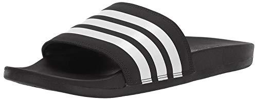 adidas Men's Adilette Comfort Slide, Black/White/Black, 11 M US