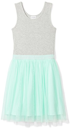 Spotted Zebra Girls' Kids Knit Sleeveless Tutu Dresses, Grey/Mint, X-Small