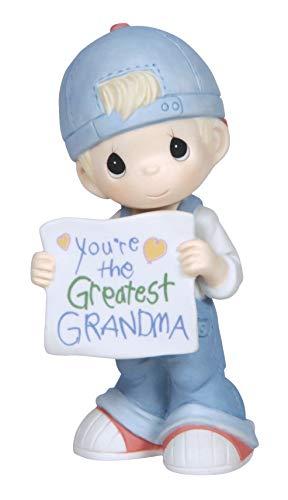Precious Moments, You're The Greatest Grandma, Bisque Porcelain Figurine, Boy, 133034