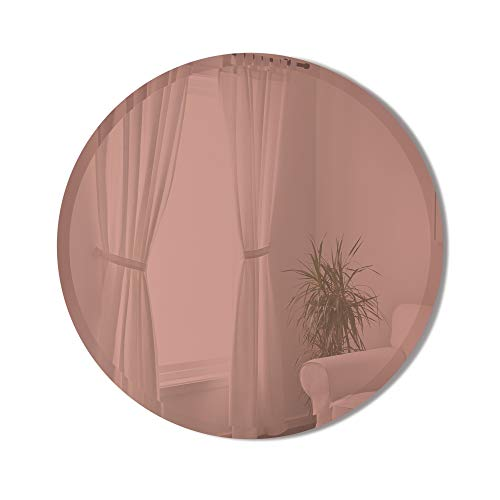 Umbra Hub Bevy Round Wall Mirror for Entryways, Living Rooms and More, 24-Inch, Copper