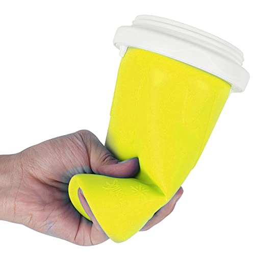 FECAMOS Taza, Taza exprimible, ecológica, Saludable, Reutilizable para Que la Familia Haga deliciosos Batidos(Yellow)
