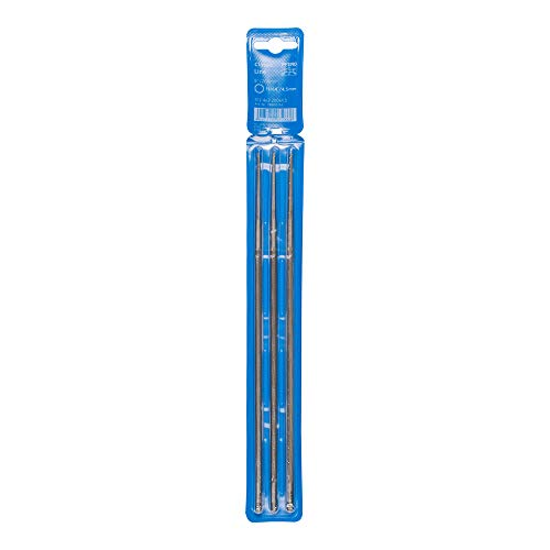 PFERD kettingzaagvijlen 3 stuks, rond, 200 mm x 4,5 mm, spiraalvormige haak, Classic Line, in kunststof tas, 18600763 – voor het handmatig slijpen van zaagkettingen