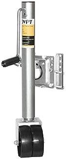 KZNANZN KOVPT 1500 Lbs Capacity 12 Lift Swivel Trailer Tongue Jack Double Wheel
