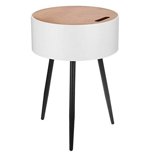 Yangxuelian Coffee Tables Round Side Table Coffee Tea Table Detachable Bedside Cabinets With Storage Compartment Organizer Racks For Living Room, Study Room Or Bedside