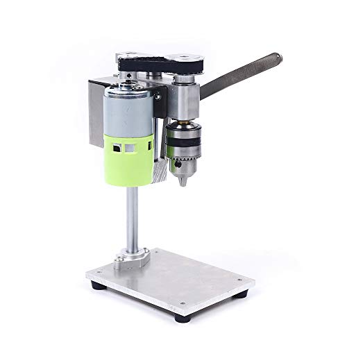 High Precision Electric Power Mini Drill Press Stand Table Rotary Tool Workstation Drill Workbench Repair Tools Clamp Work Station Milling Machine for Drilling Collet 1000-4500rpm 7 Speed Adjustable
