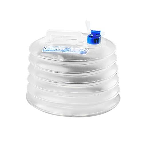 TIREOW 5L / 10L / 15L Conteneur d'eau pliable - Stockage de robinet de seau pour voiture extérieure AGS Parfait pour le Camping, Voyager, Pêche, Camping-Car, Nettoyage, Exterieure (A)
