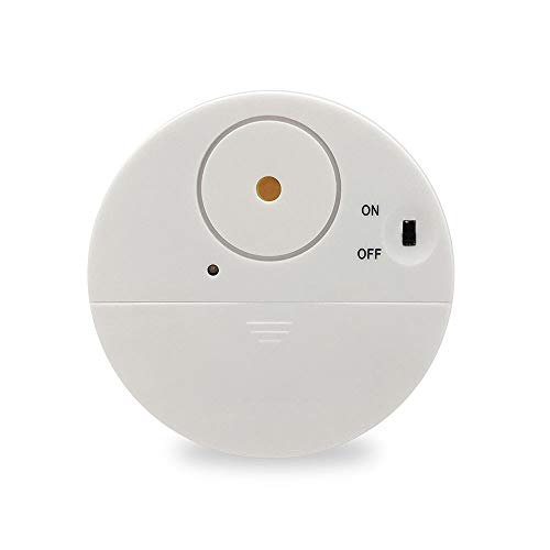 MOMIN Sensor de Puerta inalámbrica de Alarma Chime Ventana de Puerta Vibración Ventana de Alarma Alarma 2 Pack, Sensor de Choque de Alerta de 100dB Bajo Tienda de la Puerta de la Puerta Chime