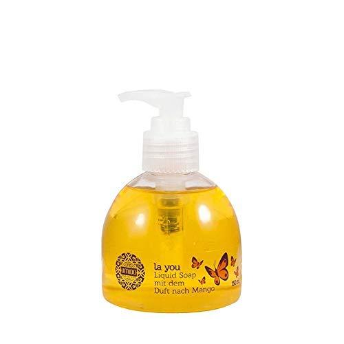 1x UMIDO Flüssigseife Spender 150 ml Mango | Händewaschen | Seife aus dem Pumpspender | Handseife für Pflege & Hygiene | Pflegeseife | Handwaschseife