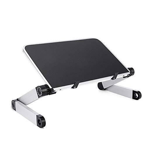 SSCYHT Foldable Notebook Stand Height Adjustable Desk Converter Sit to Stand Desk Riser Ergonomic Laptop Stand for Notebook Computer Best Gift,Black