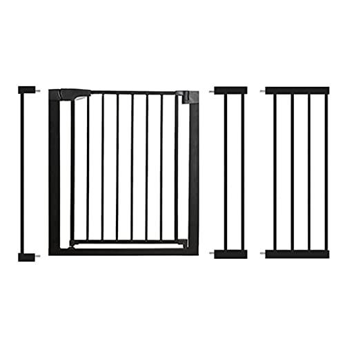 Barrera Seguridad, Sin Taladrar Baranda Escalera, Puertas de Seguridad para Niños, Barrera para Perros, para Puertas y Escaleras, (124-131 Cm, Negro)