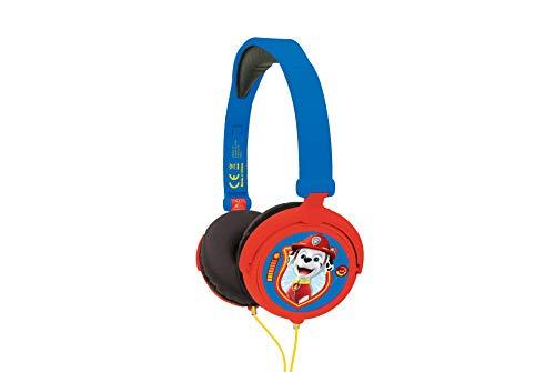 Lexibook Paw Patrol Chase Marshall stereo koptelefoon, kindvriendelijke kracht, opvouwbaar en instelbaar, blauw/rood, HP015PA
